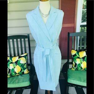 Calvin Klein Powder Blue  Suit Dress Size 6